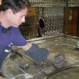 Cathouse verifies size and fit of each ironmold before casting