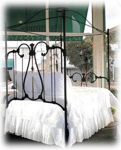 Antique Iron Crown Canopy Bed & Canopy Bed Frames | Vintage Bed Frames | Cathouse Antique Iron Beds