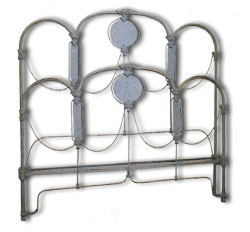Art Deco Antique Iron Bed Frame Style featuring Panels