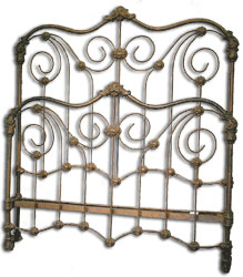 Victorian Beds Frame Style featuring Scrolling