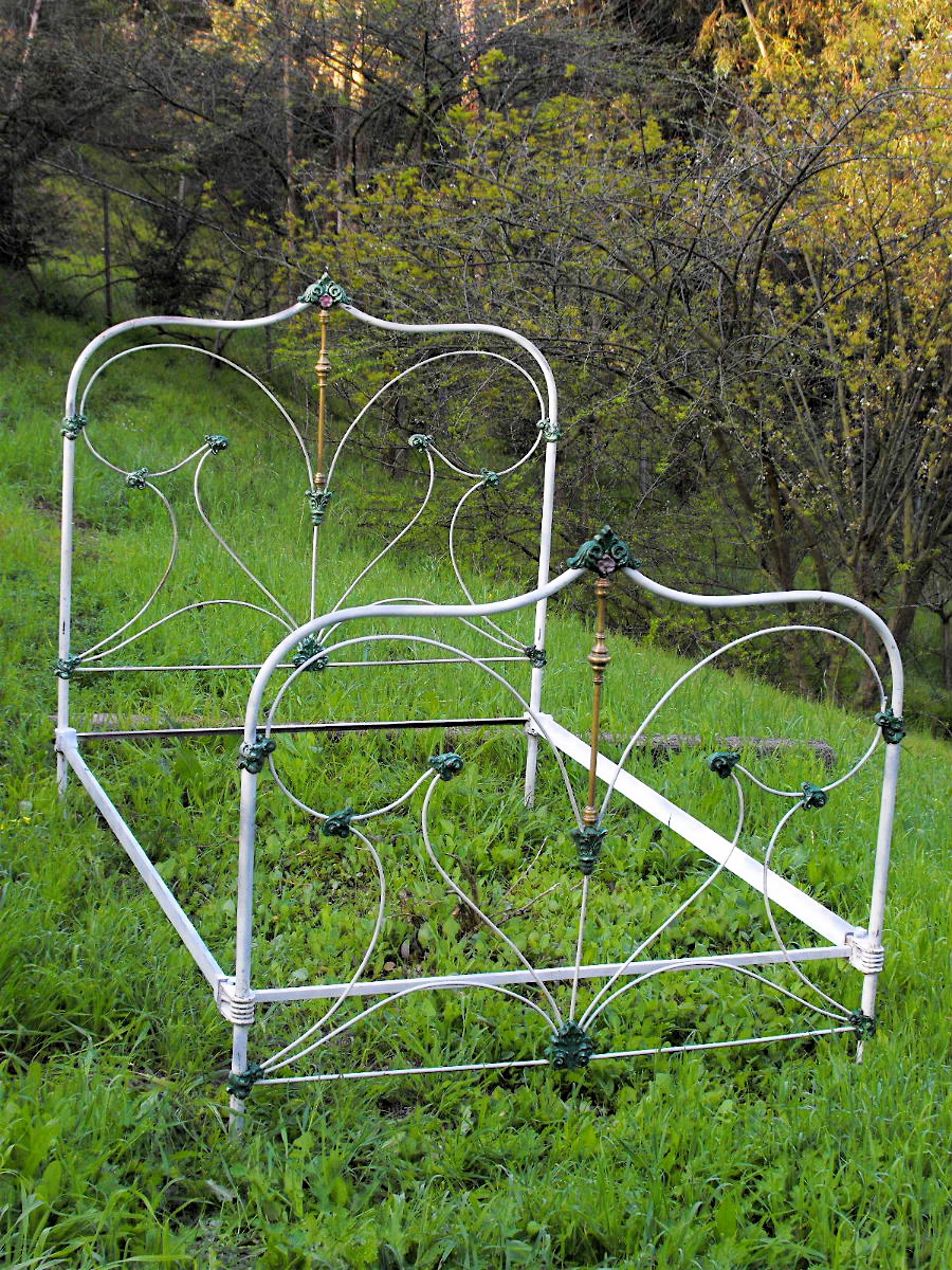 antique iron bed tags - Antique Iron Bed Frame