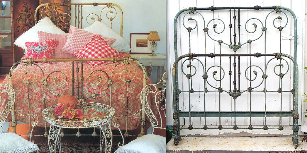 making an old iron bed look old cathouse beds. Black Bedroom Furniture Sets. Home Design Ideas